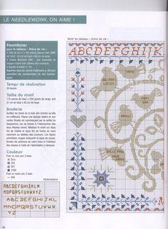 Photo from album on Yandex. Cross Stitch Tree, Cross Stitch Samplers, Cross Stitch Patterns, Dmc, Look Vintage, Mug Rugs, Blackwork, Needlework, Applique