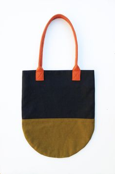 Semi-Circle Tote / Made and Found