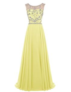 """Wedtrend Women's Long Prom Dress with Beads V Neck Back Evening Dress 10140Yellow 26W. Handmade beads for this long gown, very charming and elegant. Please Use The Size Chart Image on the Left. Do not use Amazon's """"Size Chart"""" link. Hand wash in warm water. Hang to dry. Iron under warm and low temperature. Padded bra for """"no-bra"""" option. Processing needs 7-10 days. Delivery takes 3-5 days.Ignore the time set automatically by Amazon automatically."""