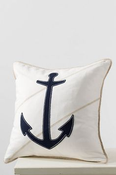 Lands' End Anchor Pillow Cover | Easy-to-switch pillow overs give your room a whole new look.