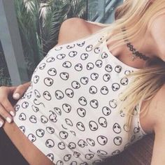 Alien print crop top
