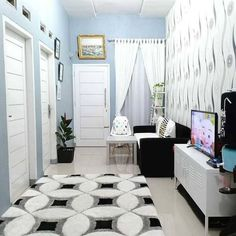 ✔tricks set 1 bedroom apartment interior design with interior design Small House Interior Design, Home Room Design, Apartment Interior Design, Living Room Interior, Home Living Room, Dream Home Design, Bedroom Apartment, Minimalis House Design, Living Pequeños