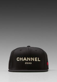 SSUR Channel Zero Snapback in Black/Cream ($40)