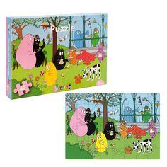 Een vrolijke Barbapapa puzzel van 48 stukjes.  #Barbapapa #puzzel #puzzels #puzzelen #Barbamama #48