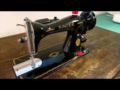How to Thread Antique Vintage Singer 66 99 185 192 Electric Treadle Sewing Machine Round Bobbin - YouTube