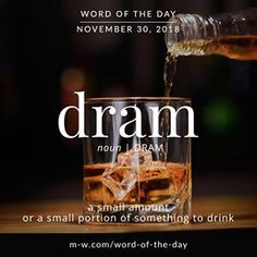 Dram - Word of the Day Fancy Words, Words To Use, Unique Words, New Words, Beautiful Words, Cool Words, Words In Other Languages, Foreign Words, Latin Words