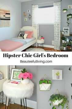 Boho Hipster Chic Girl's Bedroom - Beauteeful Living