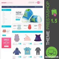 Equipements bébé, nouveaux nés, nourrissons, bonnets, body, bodies, combinaisons, robes, bavoirs, maillots de bain - Thème PrestaShop 1.5