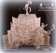 Thea's eigen gemaakte kaarten:  Goede avond allemaal,Eergisteren heb ik deze 3D m...
