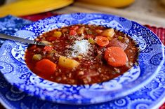 Hamburger Soup from The Pioneer Woman. I'm generally not a stew person, but this sounds good….