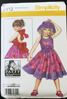 Girl's Dress Pattern McCall's 2912 Patty Reed Size A Size 3 Size 4 Size 5 Size 6 Size 7 Size 8 Uncut Original Envelope and Instructions by PastThatLasts on Etsy