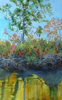 Edisto River Bank by Elizabeth Bradford  Acrylic on Canvas