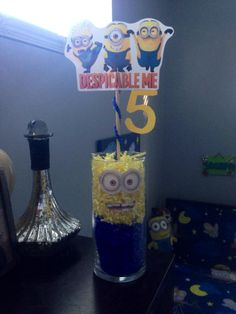Working on the minion centerpieces
