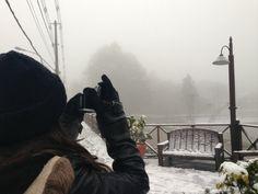 Registrando a neve em Gramado