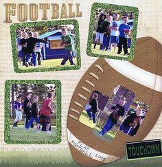flag football scrapbook layoutx | Flag Football 2009