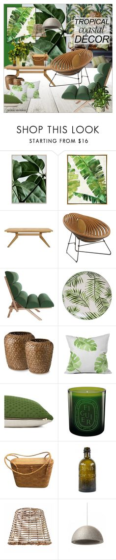 """""""Tropical Living Room"""" by rainie-minnie ❤ liked on Polyvore featuring interior, interiors, interior design, home, home decor, interior decorating, Barclay Butera, Squarefeathers, DENY Designs and Diptyque Interior Decorating, Interior Design, Green Beans, Tropical, Interiors, Living Room, Discovery, Polyvore, Plants"""