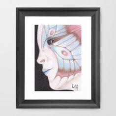 Buy Butterfly Girl #2 by Drawings by LAM as a high quality Framed Art Print. Worldwide shipping available at Society6.com. Just one of millions of products available.