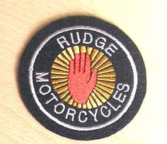 CLASSIC RUDGE MOTORCYCLES EMBROIDERED PATCH