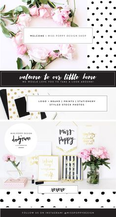 Miss Poppy Design // logo and brand design / brand styling / gold foil prints / stationery / styled stock photos / chic / luxe / fun / modern
