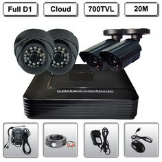 217.67$  Watch now - http://ali8uz.worldwells.pw/go.php?t=1775652709 - Home 4CH CCTV Surveillance DVR 4 Night Vision Security 700TVL Camera System Kit 217.67$