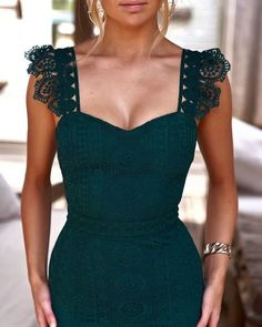wedding guest outfit Custom sexy party dress lace evening dress simple and elegant wedding guest dress from customdresskoko Sexy Party Dress, Dress Up, Dress Lace, Green Dress Outfit, Lace Dress Styles, Strapless Dress, Lace Evening Dresses, Formal Dresses, Sexy Dresses