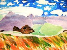 new city arts: second grade watercolor landscapes