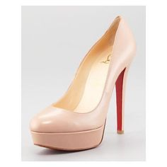 Christian Louboutin Bianca Platform Red Sole Pump, Nude... every girl needs a nude pump ( and a pair of Christian Louboutin's!!!!)