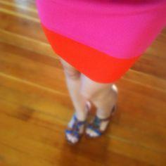 Beautiful neon skirt!