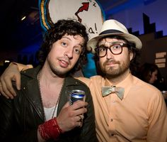 Adam Green and Sean Lennon at 313 Bowery NYC.