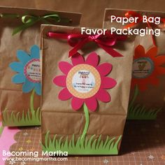 Becoming Martha: Paper Bag Favor Packaging