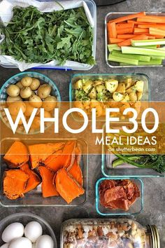 OK. We talked Whole 30 Snacks last week. Today let's talk about some of my Whole 30 Meal Ideas. I have ideas for you. PLENTY OF THEM!!! I'm pretty sure that if I do the Whole30 in another season, I'll have a completely different set of options, but this i