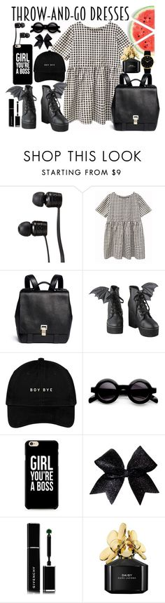"""""""Go girl"""" by luckytania on Polyvore featuring Vans, Proenza Schouler, Iron Fist, Givenchy, Marc Jacobs, Larsson & Jennings, best, dress and ootd"""