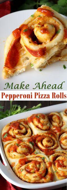 Make Ahead Pepperoni Pizza Rolls