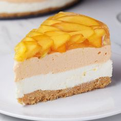 Peaches 'N' Cream Cheesecake Recipe by Tasty - Desserts - Peach Cheesecake, Cheesecake Recipes, Dessert Recipes, Dinner Recipes, Chocolate Cheesecake, Chocolate Caramels, Party Recipes, Chocolate Recipes, Food Cakes