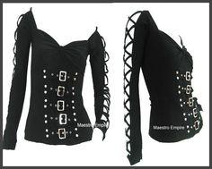 I found 'Gothic Punk Lolita Black Corset Bondage Contour Sexy Fit Raver Top' on Wish, check it out!