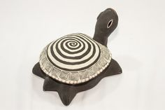 Ceramic Spiral Turtle Sculpture                                                                                                                                                      More Pottery Animals, Ceramic Animals, Clay Animals, Clay Turtle, Ceramic Turtle, Ceramic Figures, Clay Figures, Ceramic Clay, Ceramic Pottery