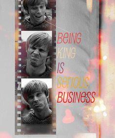 Merlin: Bradley James as King Arthur