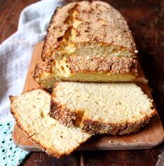 Gorgeous pillowy, light and a little bit sweet Coconut Bread. Gluten free, dairy free and paleo.
