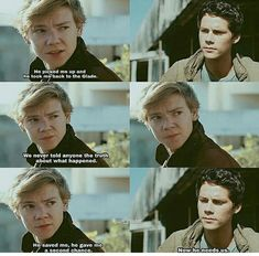 Paxton about Axel to Haley Maze Runner Funny, Maze Runner Cast, Maze Runner The Scorch, Maze Runner Thomas, Maze Runner Movie, Maze Runner Series, The Scorch Trials, Book Memes, Thomas Brodie Sangster