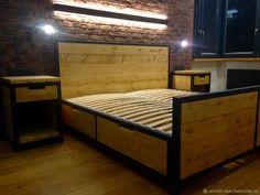 Кровать в лофт стиле – купить в интернет-магазине на Ярмарке Мастеров с доставкой