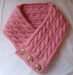 Cabled Neck Warmer Knitting Pattern PDF Permission por 4aSong