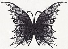 Dark Creatures - Butterfly - Thread List | Urban Threads: Unique and Awesome Embroidery Designs