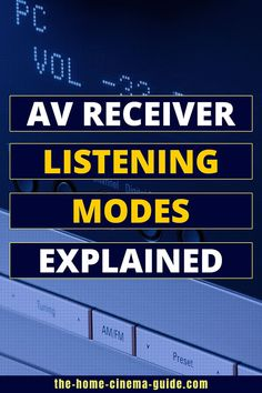 Onkyo, Denon & Yamaha AV receivers support several Dolby & DTS listening modes. This guide explains what sound modes are - and when you would use them. Home Theater Setup, Home Theater Rooms, Surround Sound Speakers, Av Receiver, Home Cinemas, Yamaha, Number, Home Theatre Rooms, Home Theater Installation
