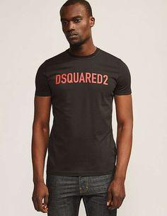 black DSQUARED Logo Clean T-Shirt