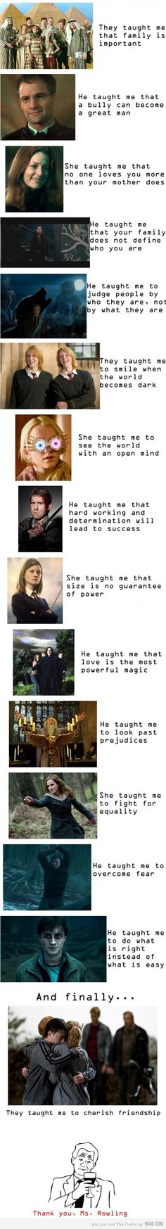 What I have learnt from Harry Potter <3