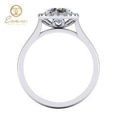 Inel de logodna din aur alb cu diamante ES151 Aur, Engagement Rings, Jewelry, Fashion, Enagement Rings, Moda, Wedding Rings, Jewlery, Bijoux