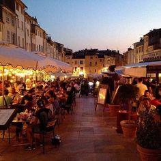 evening in Aix-en-Provence, France