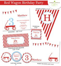 Red Wagon Birthday Party -