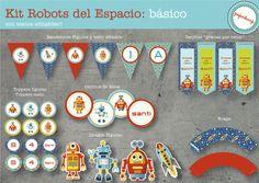 KIT IMPRIMIBLE ROBOTS - Infantiles - Arte - 497523