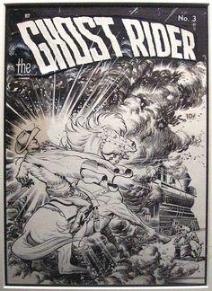 Ghost Rider #3 cover - Frank Frazetta Comic Art